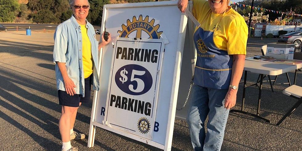 County Fair Car Parking Fundraiser