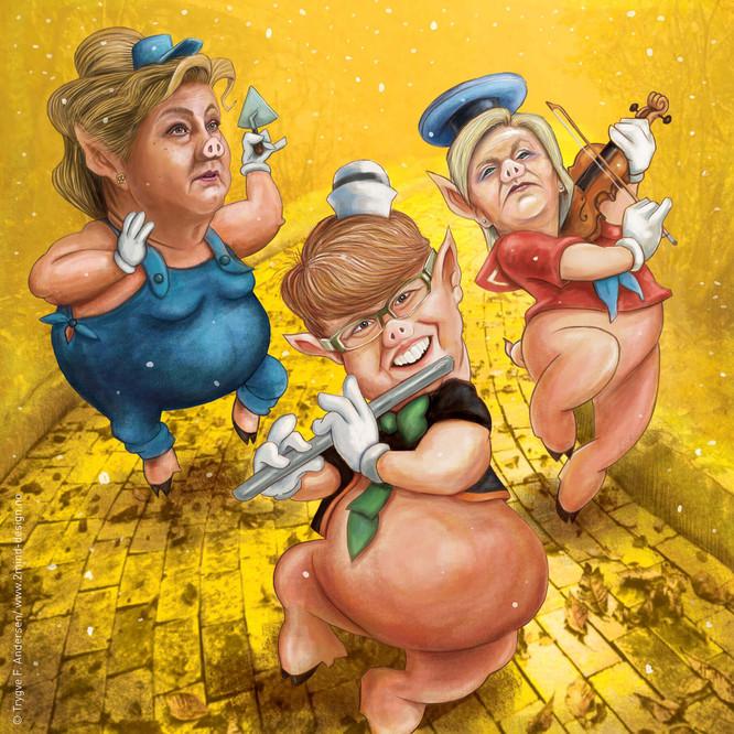 Tre små griser