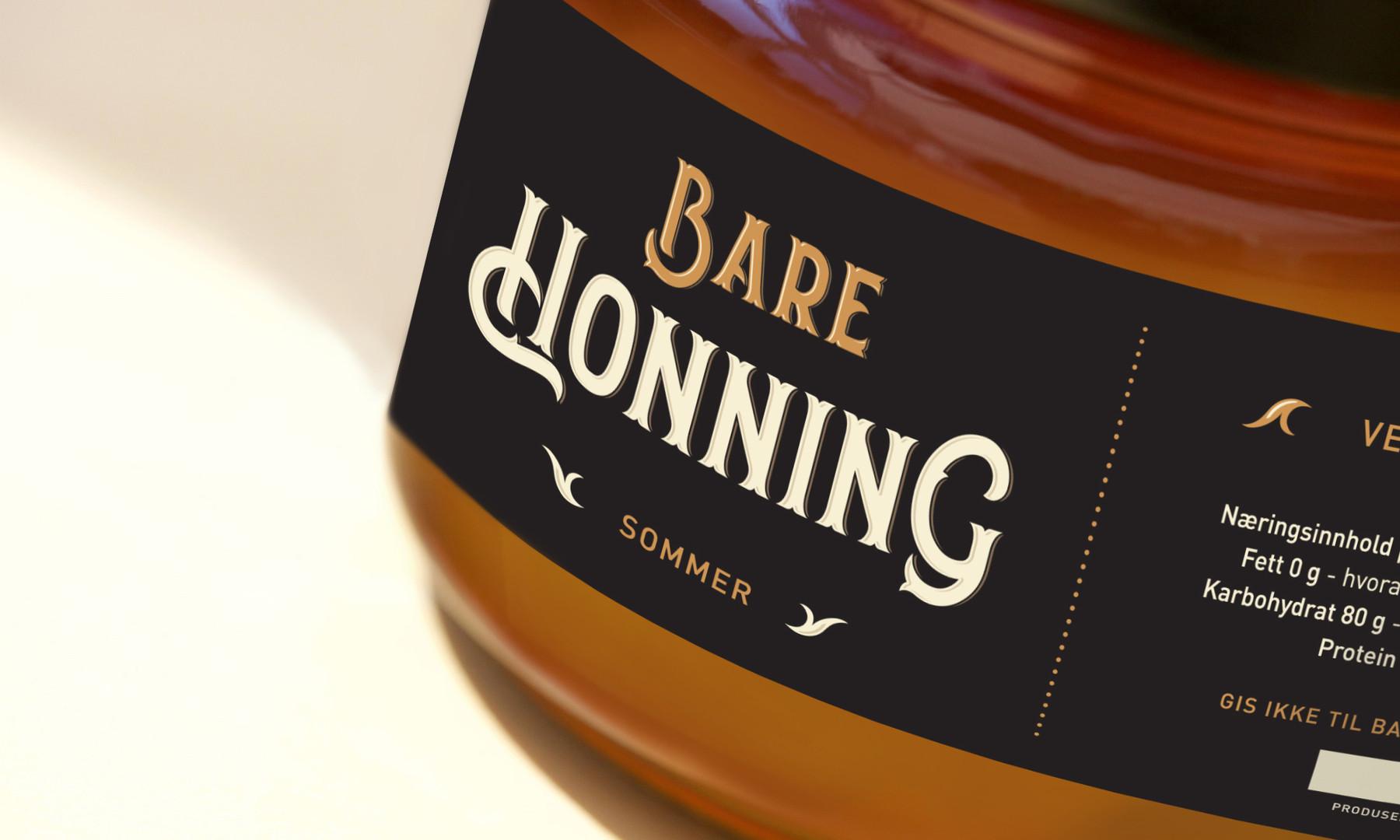 Bare honning sommer krukke