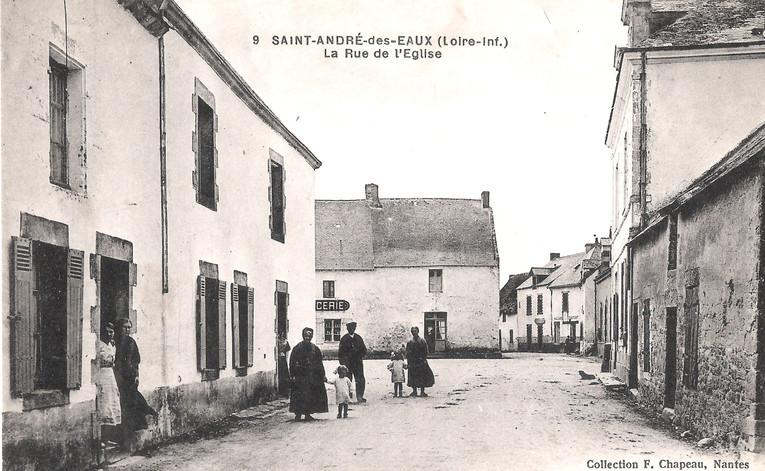 SAINT ANDRE des EAUX - La Rue de l'Eglis