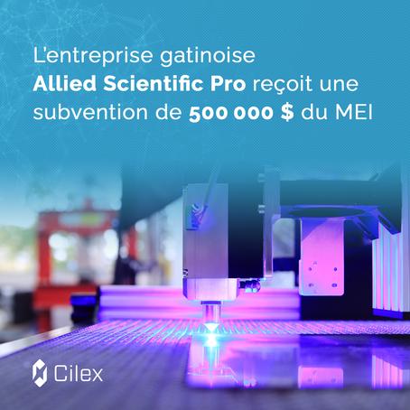 L'entreprise gatinoise Allied Scientific Pro reçoit une subvention de 500000$ du MEI