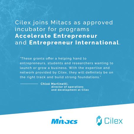 Cilex joins Mitacs in the Accelerate Entrepreneur and Entrepreneur International programs