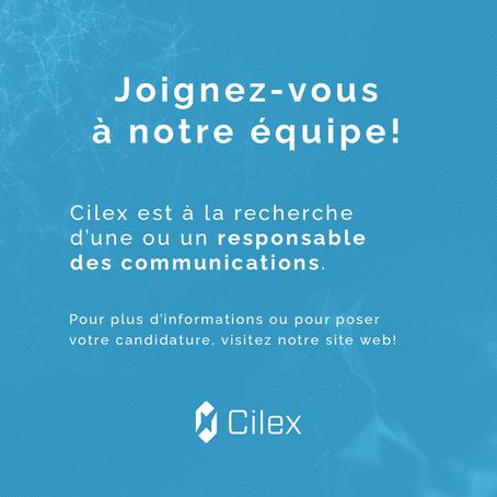 Offre d'emploi : Responsable des communications à Cilex
