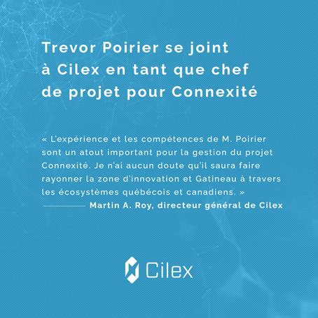 Trevor Poirier se joint à Cilex en tant que chef de projet pour Connexité