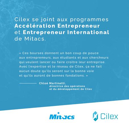 Cilex se joint aux programmes Accélération Entrepreneur et Entrepreneur International de Mitacs