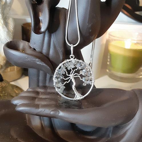 Labradorite tree of life pendant