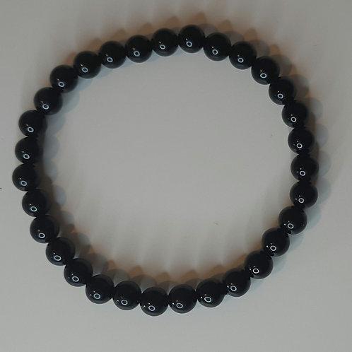 Black agate beads bracelet