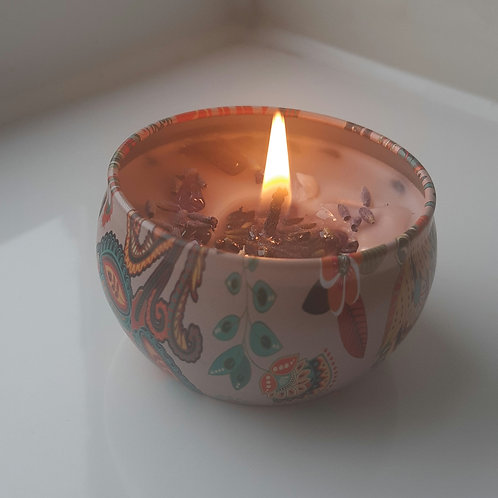 Lavender and Amethyst Candle