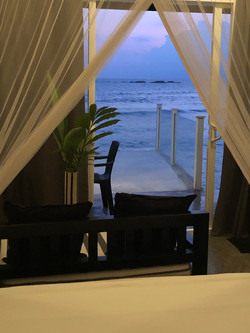 sea views from your bed!