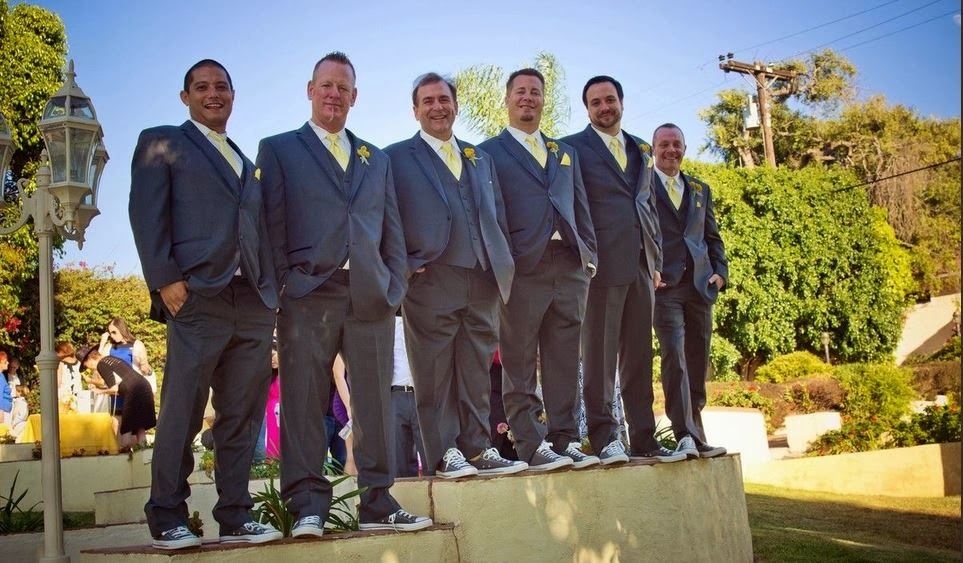 Groomsmen with Matching kicks are such a trend for wedding planners and brides from everywhere
