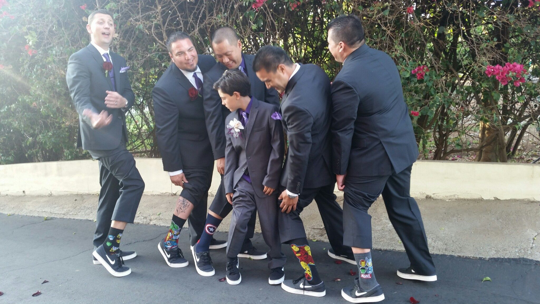 Show off your socks boys!! Estate Weddings San Diego - Wedding Coordinator Day Of