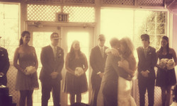 Behind the scenes shot of a First Dance with a vintage look