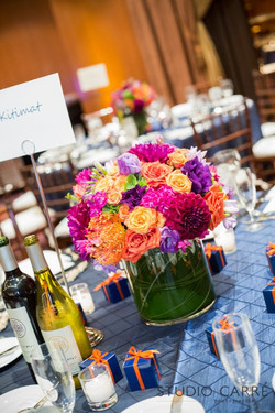 Bright jewel tone florals are beautiful for any reception - Torrey Pines Hilton - Wedding Coorcinato