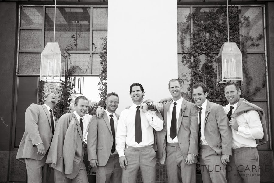 Handsome Groomsmen at the Torrey PInes Hilton wedding planner