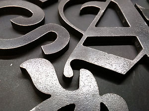plasma cut steel letters various fonts