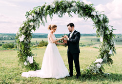 Bride and groom, couple in love during t