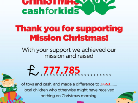 Mission Christmas. Mission accomplished.