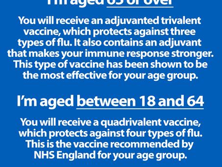 Flu vaccine types