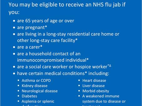Flu vaccination service update