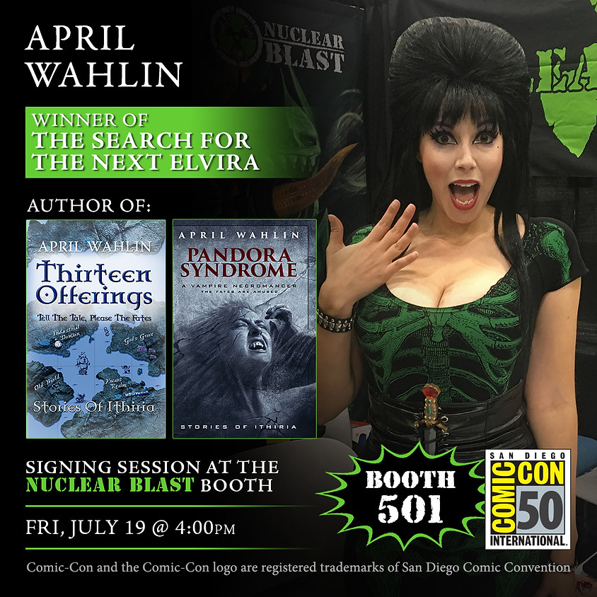 SDCC Signing at Nuclear Blast booth #501