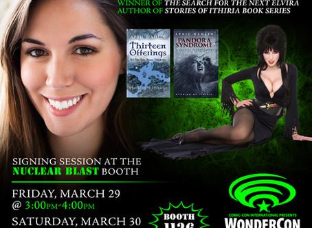 April Wahlin Signing at Booth #1126 at WonderCon 2019