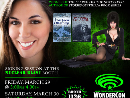 April Wahlin Signing at Booth #1126 at WonderCon 2019