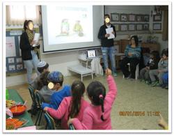 חינוך לבריאות בגן הילדים הסמוך