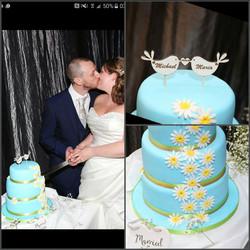 Sky Blue Happy Cake