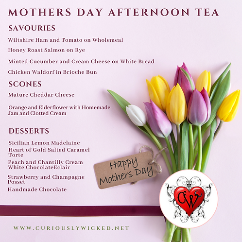 MOTHERS DAY AFTERNOON TEA (12th March (13th and 14th SOLD OUT) )