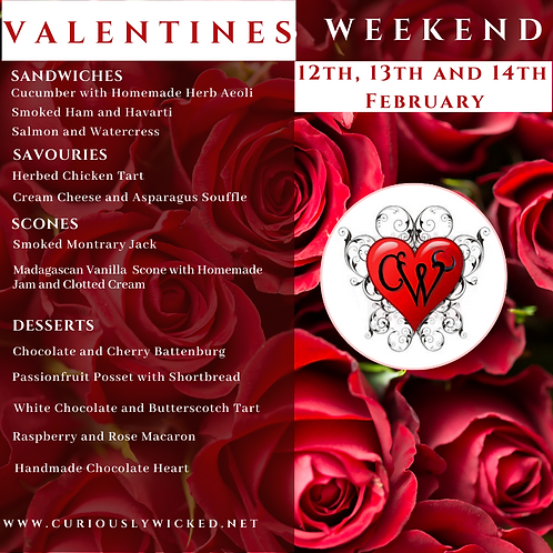 VALENTINES DAY LUXURY AFTERNOON TEA (12th~14th Feb)