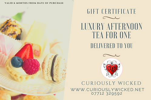 LUXURY AFTERNOON TEA VOUCHER FOR ONE