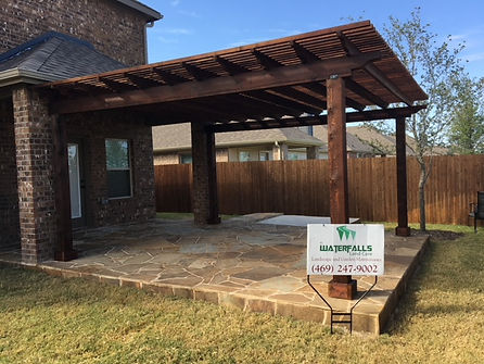 PERGOLA, PATIO AND FLAGSTONE, OKLAHO,A FLAGSTONE, MASONARY, CONCRETE