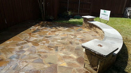 PATIO AND FLAGSTONE, OKLAHO,A FLAGSTONE, MASONARY, CONCRETE