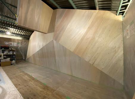 2階クライミングウォール工事スケジュール