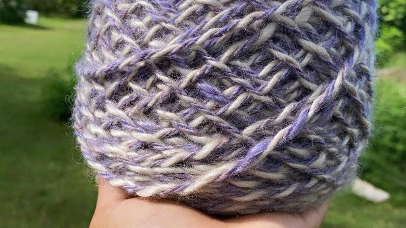 MOHAIR PURPLE AND WHITE 300 YARDS