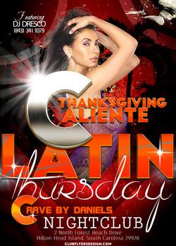Thanaksgiving Caliente Latin. Thursday