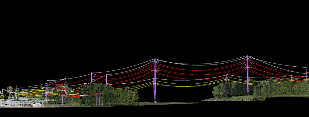 LiDAR scan of Electrical wires