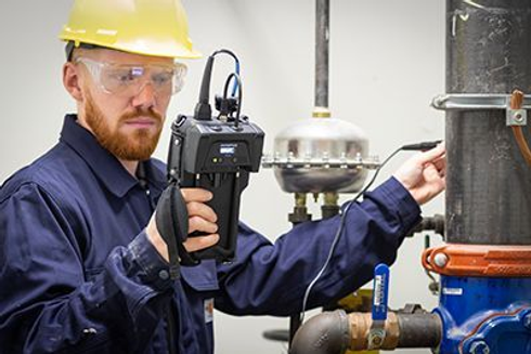 pipe thickness testing using our equipment