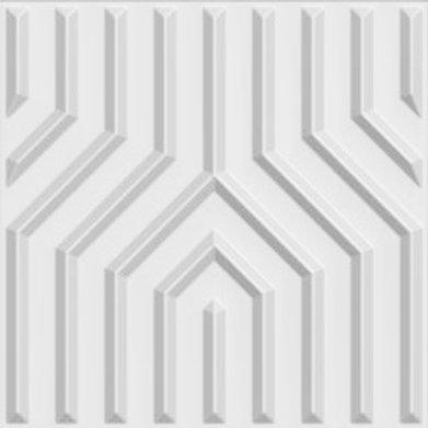 3D Wall Panel ผนังสามมิติ วัสดุ PVC ลาย LINE ขนาด 50x50cm. (ราคาต่อ1ตร.ม)