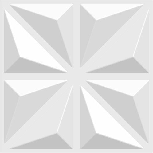 3D Wall Panel ผนังสามมิติ วัสดุ PVC ลาย STAR ขนาด 50x50cm. (ราคาต่อ1ตร.ม)