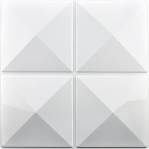 3D Wall Panel ผนังสามมิติ วัสดุ PVC ลาย EXCELSIOR ขนาด 50x50cm. (ราคาต่อ1ตร.ม)