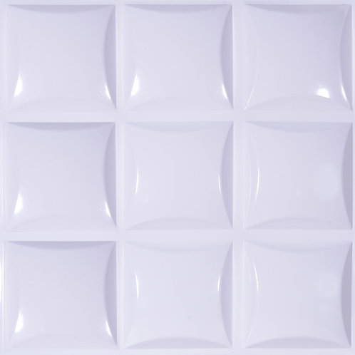 3D Wall Panel ผนังสามมิติ วัสดุPOLY ลาย LITTLE SQUARE ขนาด50*50cm.(ราคาต่อ1ตร.ม)