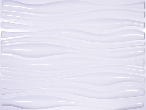 3D Wall Panel ผนังสามมิติ วัสดุPOLY ลาย SMALL WAVE ขนาด 62.5*80cm.(ราคาต่อ1ตร.ม)