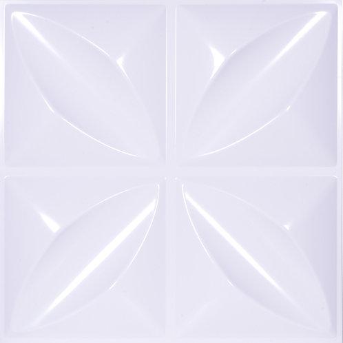 3D Wall Panel ผนังสามมิติ วัสดุ POLY ลาย HOPE ขนาด 50*50cm. (ราคาต่อ1ตร.ม)