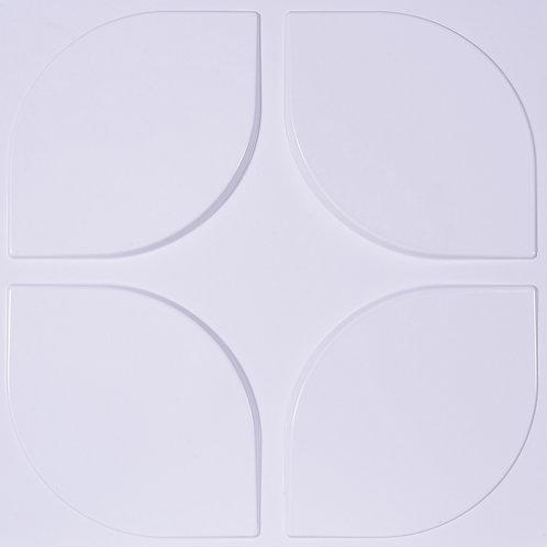 3D Wall Panel ผนังสามมิติ วัสดุ POLY ลาย TULIP ขนาด 50*50cm. (ราคาต่อ1ตร.ม)