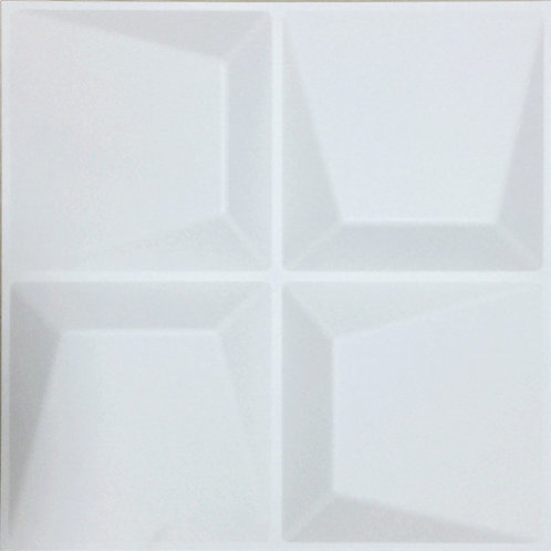 3D Wall Panel ผนังสามมิติ วัสดุ PVC ลาย SWEEP ขนาด 50x50cm. (ราคาต่อ1ตร.ม)