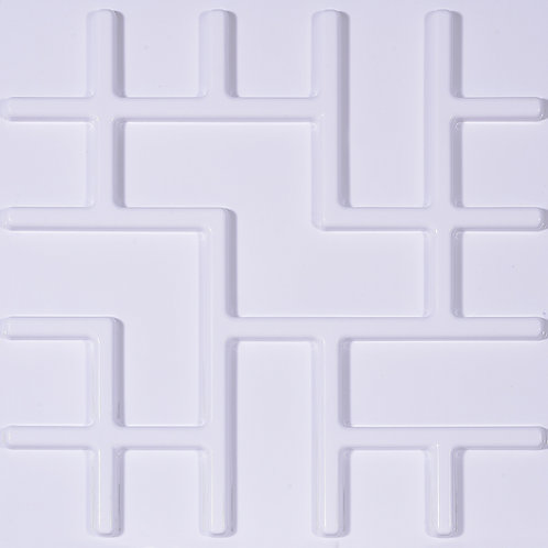 3D Wall Panel ผนังสามมิติ วัสดุ POLY ลาย CHINO ขนาด 50*50cm. (ราคาต่อ1ตร.ม)