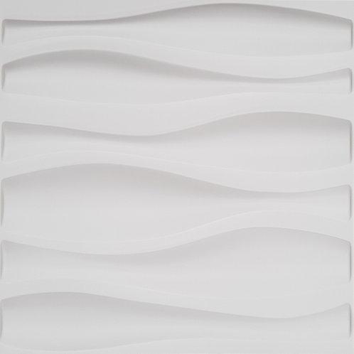 3D Wall Panel ผนังสามมิติ วัสดุ PVC ลาย WAVE ขนาด 50x50cm. (ราคาต่อ1ตร.ม)