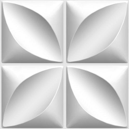 3D Wall Panel ผนังสามมิติ วัสดุ PVC ลาย HOPE ขนาด 50x50cm. (ราคาต่อ1ตร.ม)