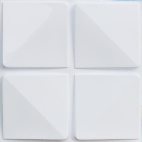 3D Wall Panel ผนังสามมิติ วัสดุ PVC ลาย BLOC ขนาด 50x50cm. (ราคาต่อ1ตร.ม)